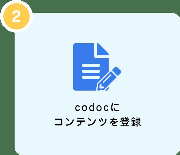 codocにコンテンツを登録